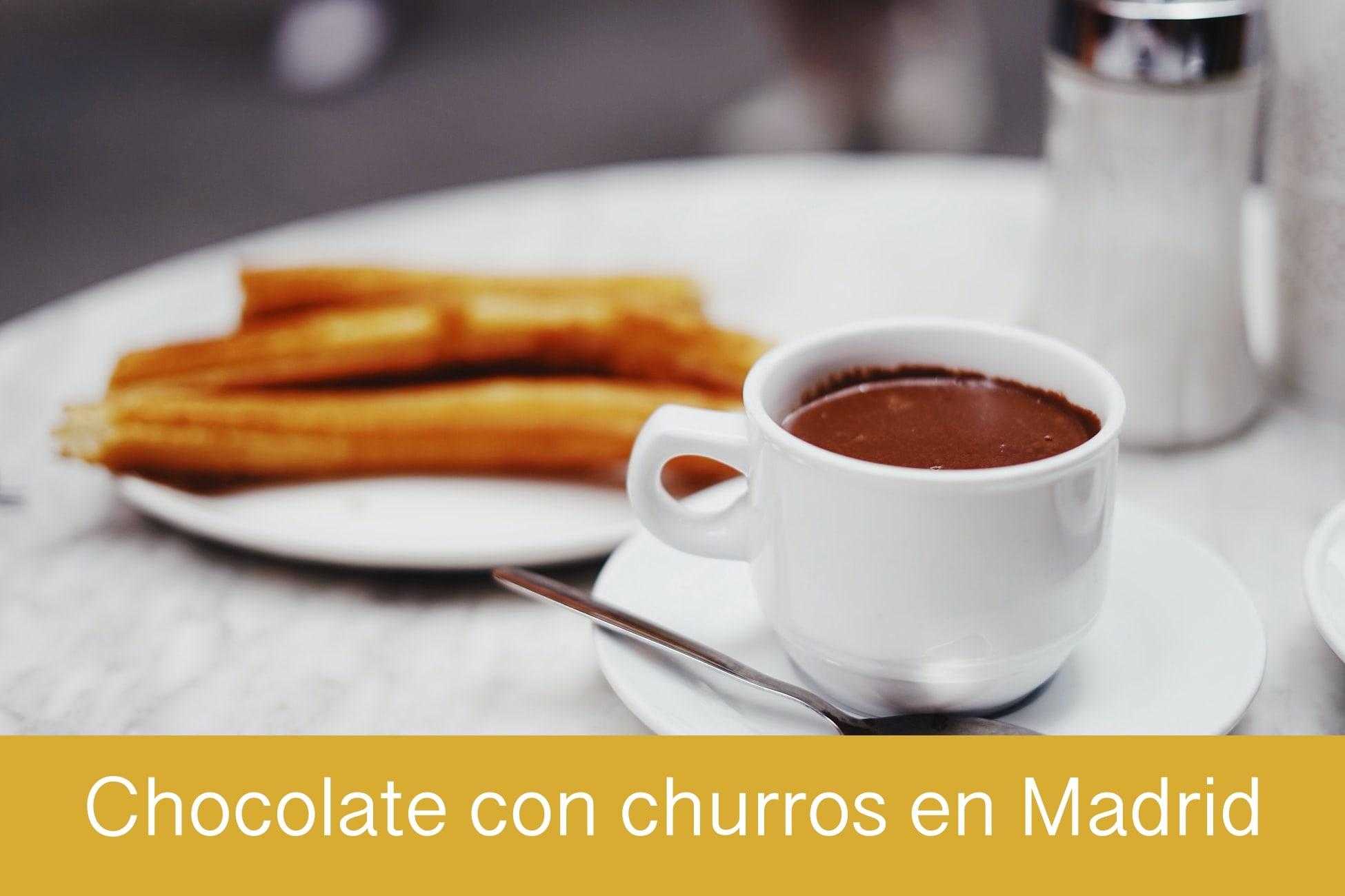 Dónde tomar churros con chocolate en Madrid
