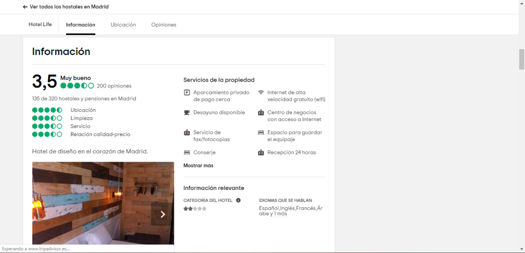 Tripadvisor Hotel Madrid