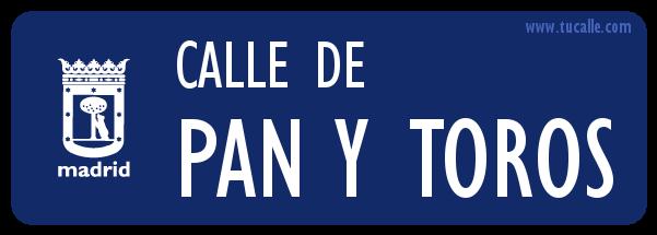Calle de Pan y Toros madrid