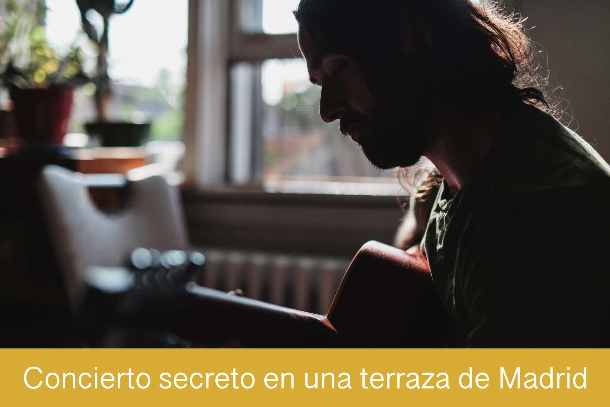 Concierto secreto en una terraza de Madrid
