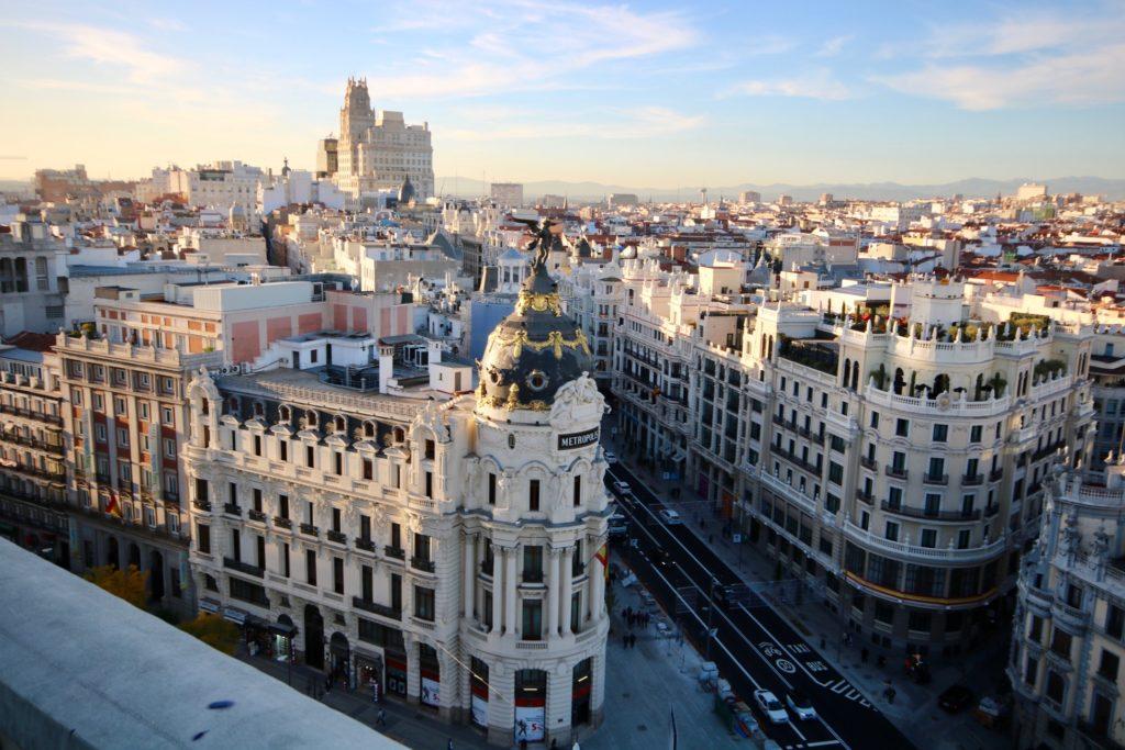 Gran Vía desde el aire Madrid